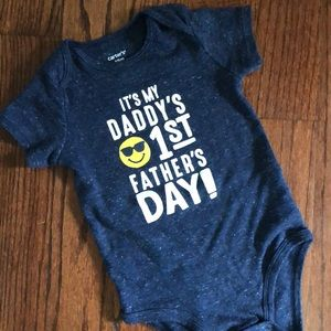 Carters first Father's Day Body suit